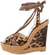 Christian Louboutin Ponyhair Wedge Sandals