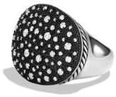 David Yurman Midnight Melange Large Oval Ring with Diamonds