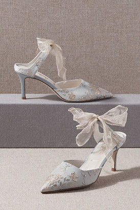 Anthropologie Something Bleu Elvie Mules By in Blue Size 6.5
