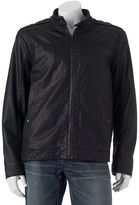 Apt. 9 Men's Modern-Fit Textured Faux-Leather Jacket