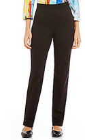 Allison Daley Petite Comfort Knit Slim Leg Pull-On Pants