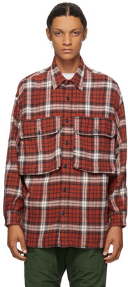 R 13 Red Check Oversize Shirt