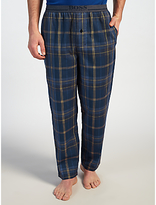 Hugo Boss Boss Brushed Check Lounge Pants, Navy/yellow