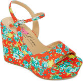FIRST LOVE BY PENNY LOVES KENNY First Love Neat Floral Print Wedges