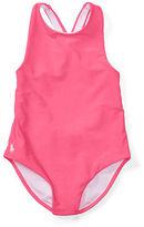 Ralph Lauren 2-6X Cross-Back One-Piece Swimsuit