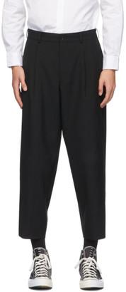 Comme des Garçons Homme Deux Black Tropical Wool Trousers