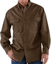 Carhartt Heavyweight Cotton Shirt - Long Sleeve (For Tall Men)