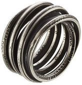 Werkstatt:Munchen Sterling Silver Wound Words Ring