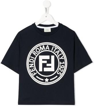 Fendi Kids logo print T-shirt