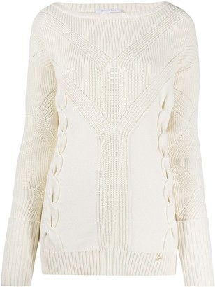 Patrizia Pepe Ribbed Round Neck Jumper