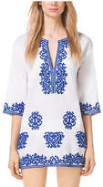 Michael Kors Embroidered Cotton Tunic