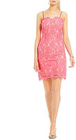 Mystic Spaghetti Strap Lace Sheath Dress