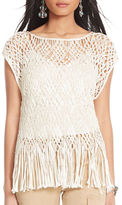 Polo Ralph Lauren Fringed Macramé Top