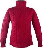 100% Irish Merino Wool Turtle Neck Aran Sweater by West End