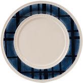 Fitz & Floyd S/4 Bristol Indigo Tartan Dinner Plates