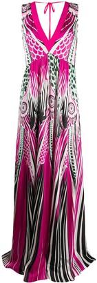 Just Cavalli Colour-Block Print Maxi Dress