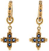 Loree Rodkin Sapphire Cross Drop Earrings