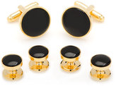 Cufflinks Inc. Gold/Onyx Cuff Links & Stud Set