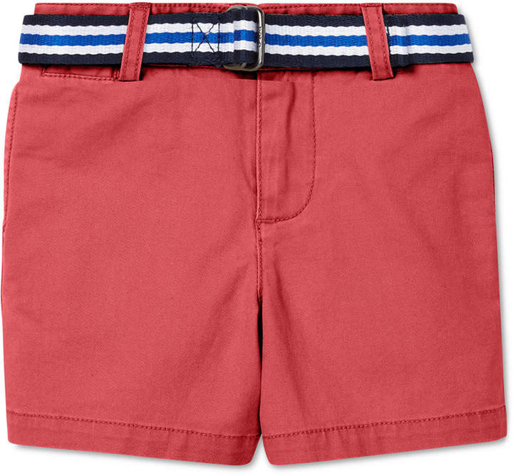 e86fdfa4 Baby Boys Belted Stretch Chino Shorts