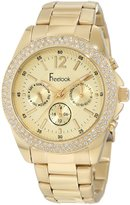 Freelook Women's HA6305G-3 All Band And Dial Chronograph Swarovski Bezel Watch