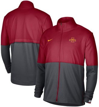 Nike Men's Crimson/Anthracite Iowa State Cyclones Colorblock Woven Full-Zip Jacket