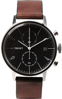 Tsovet Jpt-cc38 Stainless Steel And Leather Watch