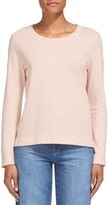 Whistles Rosa Double Trim Long Sleeve Tee