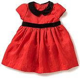 Edgehill Collection Baby Girls Newborn-6 Months Velour-Bow Dress