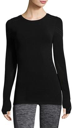 Blanc Noir Long-Sleeve Top