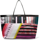 Missoni Leather-trimmed jacquard tote