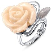 Winter.Z Noble and Elegant Ladies Jewelry Popular Explosion Models Austria Crystal Platinum Rose Ring Wedding