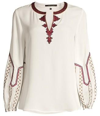 Kobi Halperin Yasmina Peasant Silk Blouse