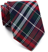 Tommy Hilfiger Red & Green Group Plaid Silk Tie