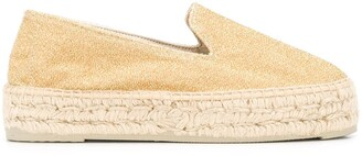 Manebi Glittered Slip-On Espadrilles