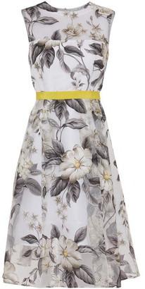 Gina Bacconi Fiora Floral Organza Dress