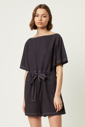 French Connenction Carmen Caspia Gathered Waist Jumpsuit
