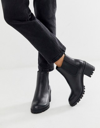 Aldo Brerravia chunky mid heel chelsea boot-Black
