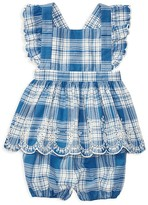 Ralph Lauren Girls' Madras Apron Top & Bloomers Set - Baby