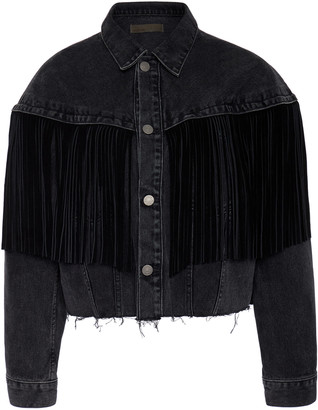 GRLFRND Denim Freya Fringed Denim Jacket