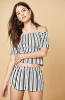 KENDALL + KYLIE Kendall & Kylie Smocked Off-The-Shoulder Top