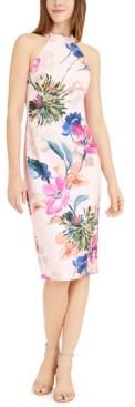 Trina Turk Trina High-Neck Floral Sheath Dress