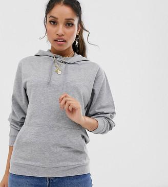 ASOS DESIGN Petite ultimate hoodie in gray marl