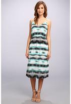 Vince Camuto S/L Linear Echoes High Waist Dress