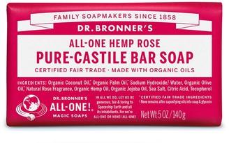 Dr. Bronner's All-One Hemp Rose Pure-Castile Bar Soap 140G