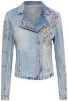 Cream Flower Denim Jacket