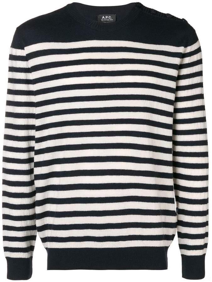 A.P.C. striped knit jumper
