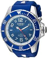KYBOE! 'Power' Quartz Stainless Steel and Silicone Casual Watch, Color:Blue (Model: KY.55-008.15)