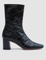 Mira Eel Skin Boot in Black