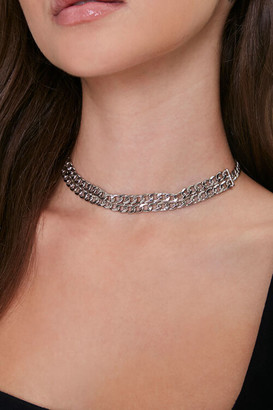 Forever 21 Layered Chain Choker Necklace