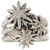 David Yurman Diamond Triple Starburst Ring